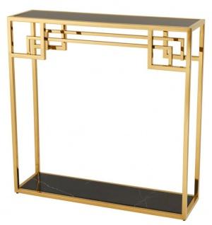Casa Padrino Art Deco Luxus Konsolentisch Gold - Designer Hotel Möbel