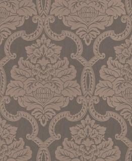 Casa Padrino Barock Textiltapete Grau / Rosa 10, 05 x 0, 53 m - Barock Tapete - Deko Accessoires