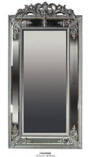 Casa Padrino Barock Wandspiegel Silber H 183 cm B 91.5 cm - Edel & Prunkvoll - Spiegel Silberfarben