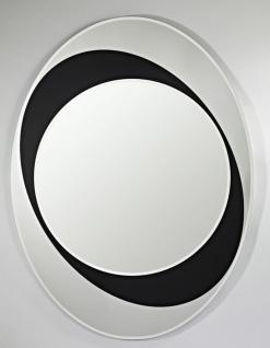 Casa Padrino Designer Spiegel Schwarz / Weiß 83 x H. 110 cm - Luxus Kollektion