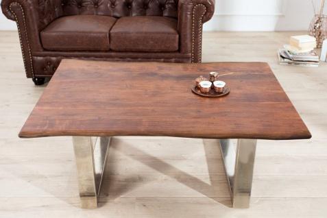 Casa Padrino Designer Massivholz Akazie Couchtisch Natur Braun 120 x H. 45 cm - Salon Wohnzimmer Tisch - Vorschau 2