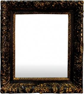 Casa Padrino Barock Wandspiegel Schwarz / Gold H85 x 73 cm - Antik Look Spiegel