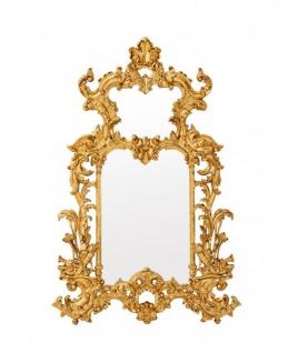 Casa Padrino Luxus Designer Wandspiegel Gold Blatt 124 x H 190 cm - Edel & Prunkvoll