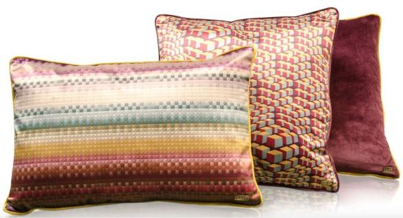 Casa Padrino Wohnzimmer Deko Kissen 3er Set Mehrfarbig - Luxus Kollektion