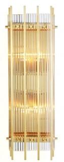 Casa Padrino Luxus Wandleuchte Gold 23 x 12 x H. 65 cm - Hotel Restaurant Möbel