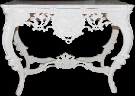 Casa Padrino Luxus Barock Konsolentisch Weiss - Konsole Tisch Beistelltisch