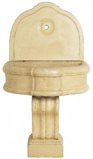 Casa Padrino Luxus Barock Wandbrunnen Beige 85 x 58, 5 x H. 146 cm - Handgefertigter Keramik Brunnen - Barock Garten Brunnen - Barock Deko Accessoires