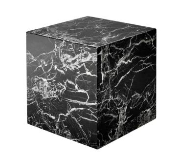 Casa Padrino Luxus Art Deco Designer Beistelltisch aus schwarzem Kunstmarmor - Luxus Qualität