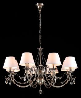 Casa Padrino Barock Kristall Decken Kronleuchter Dunkel Nickel 85 x H 53 cm Antik Stil - Möbel Lüster Leuchter Hängeleuchte Hängelampe