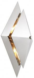 Casa Padrino Luxus Wohnzimmer Wandleuchte Silber 26 x 11, 5 x H. 39 cm - Designer Leuchte