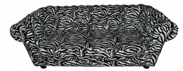 Casa Padrino Designer Chesterfield Sofa Zebra - Designer Wohnzimmer Möbel