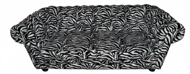 Casa Padrino Limited Edition Designer Chesterfield Sofa Zebra - Club Möbel