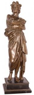 Casa Padrino Luxus Bronzefigur Kaiser Augustus Bronze / Schwarz 24 x 24 x H. 77 cm - Bronze Skulptur mit Marmorsockel - Dekofigur
