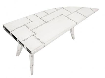 Casa Padrino Luxus Designer Schreibtisch Aircraft Wing Aluminium Flugzeug Flügel Art Deco Vintage - Vorschau 2