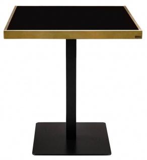 Casa Padrino Luxus Esstisch Schwarz / Gold 70 x 70 x H. 76 cm - Esszimmermöbel