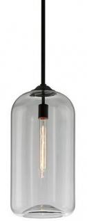 Casa Padrino Luxus Hängeleuchte Schwarz Ø 25, 4 x H. 52, 7 cm - Pendelleuchte mit rundem Glas Lampenschirm