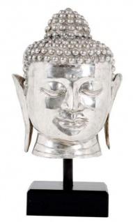 Casa Padrino Luxus Buddha Silber / Schwarz 28 x 24 x H. 55 cm - Hotel Restaurant Deko