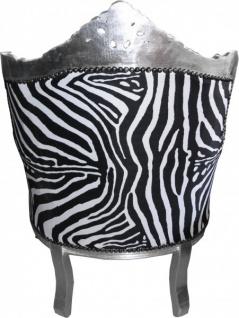 "Casa Padrino Barock Sessel "" Lord"" Mod1 Zebra/ Silber Antik Stil - Vorschau 3"