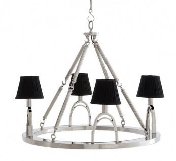 Casa Padrino Luxus Kronleuchter - Luxus Hängeleuchte Nickel Durchmesser 70 x H 61 cm - Vorschau 2