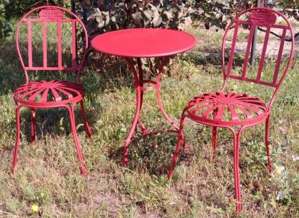 Casa Padrino Jugendstil Gartenmöbel Set - verschiedene Farben - Gartentisch & 2 Gartenstühle im Jugendstil