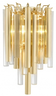 Casa Padrino Luxus Wandleuchte / Wandlampe Gold 23 x 14, 5 x H. 42 cm - Hotel Restaurant Kollektion