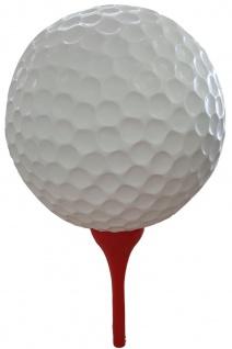 Casa Padrino Designer Deko Skulptur Golfball Weiß / Rot Ø 120 x H. 200 cm - Riesige Wetterbeständige Gartendeko