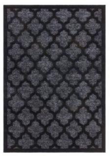 Casa Padrino Luxus Teppich Schwarz - Verschiedene Größen - Wohnzimmer Teppich mit Glanzgarn - Luxus Kollektion