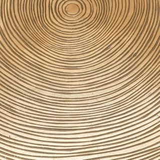 Casa Padrino Luxus Beistelltisch Messingfarben / Schwarz Ø 63, 5 x H. 50, 5 cm - Luxuriöser Beistelltisch mit Tischplatte im Baumscheiben Design - Vorschau 5