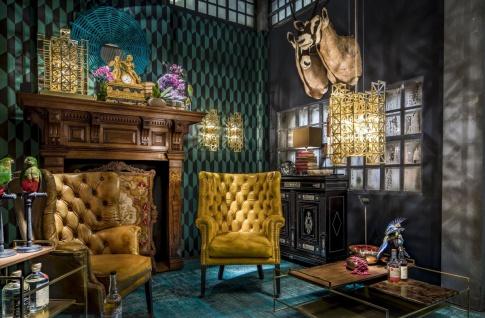 Casa Padrino Designer Tischleuchte Messing 45 x 45 x H. 65 cm - Hotel Möbel - Vorschau 5