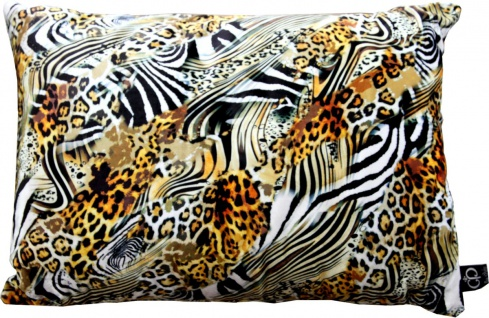 Casa Padrino Luxus Deko Kissen Nevada Leopard / Zebra 35 x 55 cm - Feinster Samtstoff - Wohnzimmer Kissen