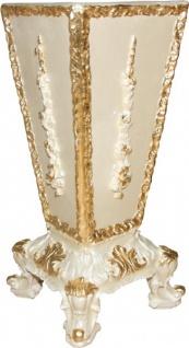 Casa Padrino Barock Luxus Schirmständer in Creme/Gold mit Bling Bling Glitzersteinen - Hotel Interior Luxus Kollektion - Limited Edition