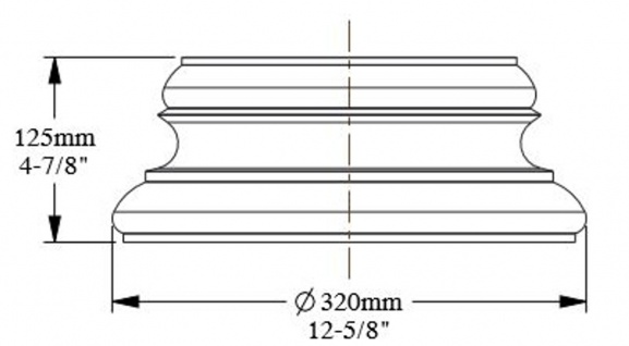 Casa Padrino Barock Zierelement Säulenfuß Sockel Weiß 32 x 16 x H. 12, 5 cm - Prunkvolle Wanddeko - Barock Deko - Vorschau 3