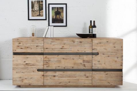 Casa Padrino Luxus Sideboard B.170 x H.80 x T.45 - Fernsehschrank - Kommode - Handgefertigt aus Massivholz!