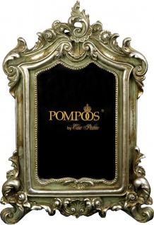 Pompöös by Casa Padrino Barock Bilderrahmen Antik Stil Silber von Harald Glööckler 27.5 x 19 cm - Foto Rahmen