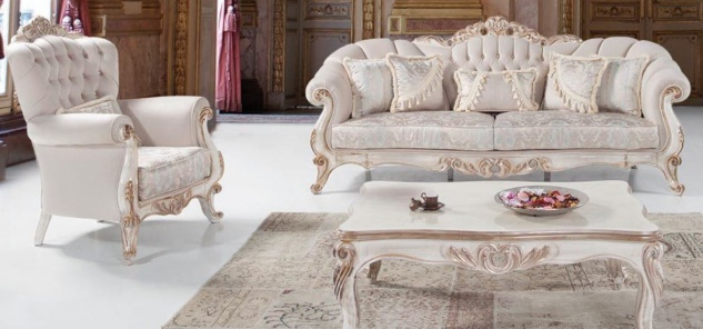 Casa Padrino Luxus Barock Wohnzimmer Set Hellgrau / Weiß / Antik Bronze - 2 Sofas & 2 Sessel & 1 Couchtisch - Wohnzimmer Möbel im Barockstil - Edel & Prunkvoll