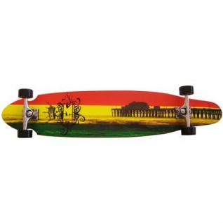Krown Longboard Komplettboard Skateboard Rasta Kicktail Complete 9.0 x 41.5 inch
