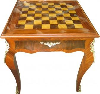 Casa Padrino Art Deco Spieltisch Schach / Backgammon Tisch Mahagoni Braun 65 x B 65 x H 71 cm - Möbel Antik Stil Barock
