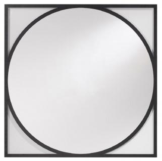Casa Padrino Luxus Wandspiegel Schwarz 90 x H. 90 cm - Wohnzimmer Spiegel - Garderoben Spiegel - Luxus Kollektion