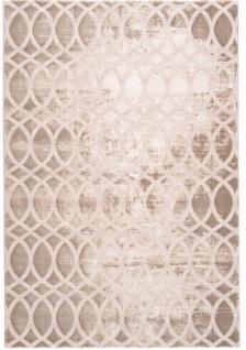 Casa Padrino Designer Teppich Beige - Verschiedene Größen - Wohnzimmer Deko Accessoires