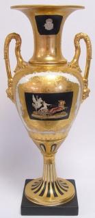 Casa Padrino Barock Porzellan Vase mit 2 Griffen H. 61 cm - Limited Edition