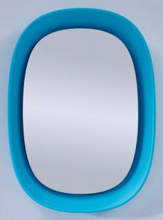 Casa Padrino Luxus Designer Spiegel Blau 70 x H. 97 cm - Designer Wandspiegel mit Licht