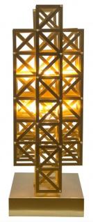 Casa Padrino Designer Tischleuchte Messing 22 x 28 x H. 65 cm - Hotel Möbel