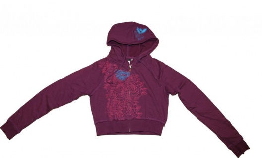 Famous Stars & Straps Skateboard Pullover Zip Hoodie Purple Sweater