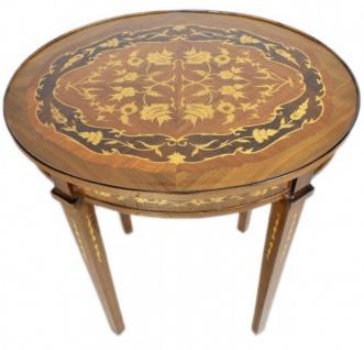 Casa Padrino Barock Beistelltisch Mahagoni Intarsien H80 x 50cm - Ludwig XVI Antik Stil Tisch - Möbel - Vorschau 3
