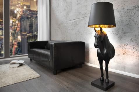 Casa Padrino Luxus Stehleuchte Pferd Schwarz Höhe 130 cm, Leuchte - Luxury Collection Pferde Leuchte - Horse Lamp
