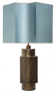 Casa Padrino Luxus Tischlampe Mattschwarz / Türkis 55 x H. 89 cm - Luxus Qualität
