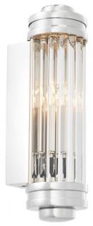 Casa Padrino Wandleuchte / Wandlampe Silber 7 x 10 x H. 26 cm - Hotel & Restaurant Leuchte