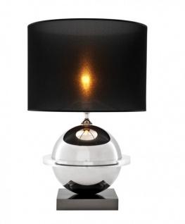 Casa Padrino Luxus Tischleuchte Nickel Durchmesser 37 x 50 x H 78 cm - Luxus Hotel Leuchte