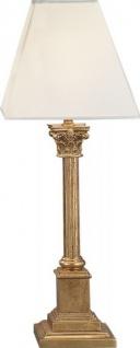 Casa Padrino Luxus Barock Tischleuchte Gold 54 x 20 cm - Blattgold Säulen Lampe - Handgefertigt in Italien