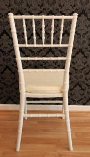 Casa Padrino Designer Acryl Stuhl inkl Sitzkissen Weiß/Creme - Ghost Chair white - Polycarbonat Möbel - Acryl Möbel - Geisterstuhl - Vorschau 4
